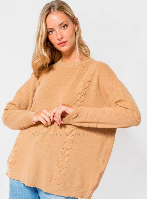 Sweaters perlado  trenza